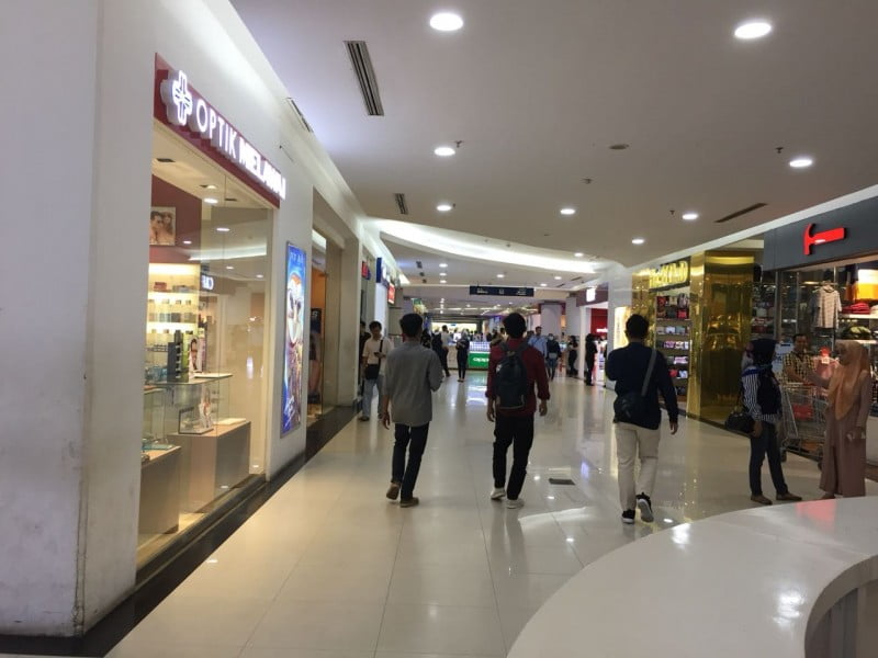 Suasana PS Mall, Rabu (19/09).